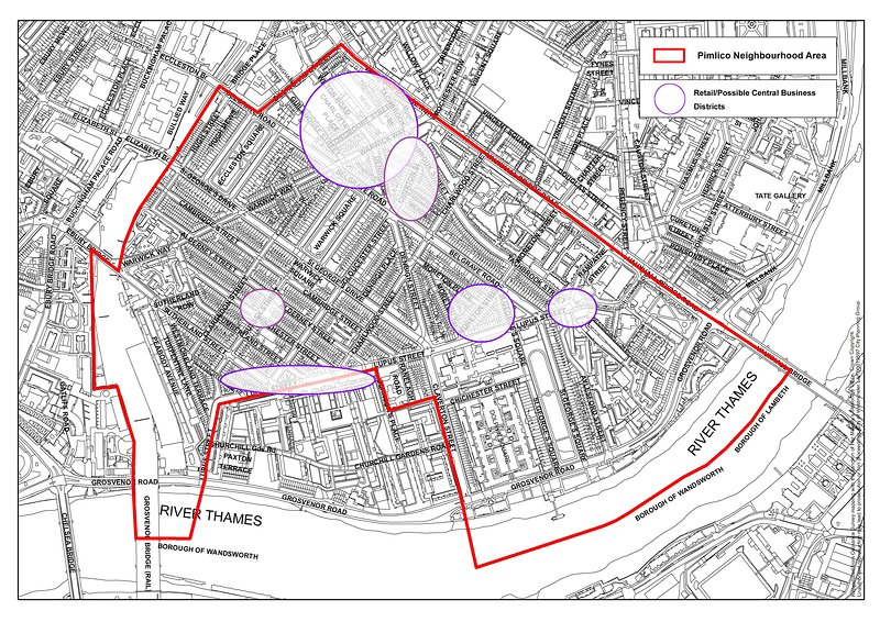 Key business areas, Pimlico Neighbourhood Forum